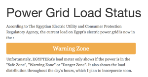 Egypt Power Grid Load Status